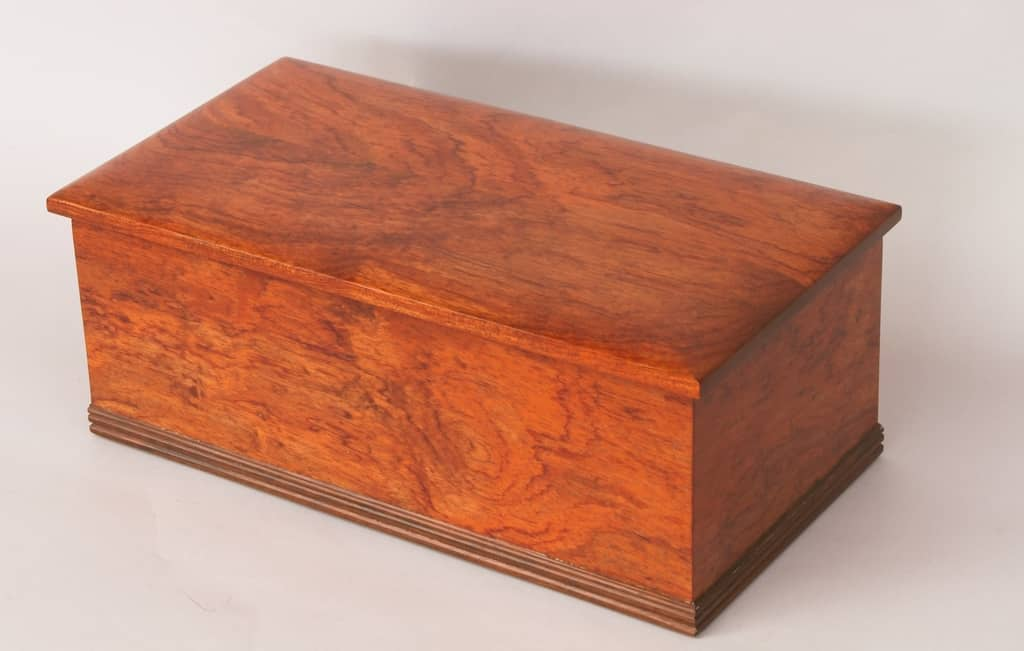 bubinga box brass walnut