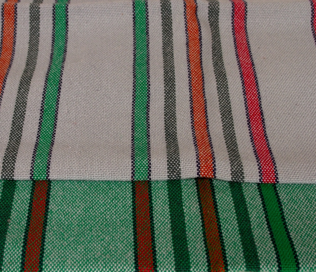 striped cotton tea towel