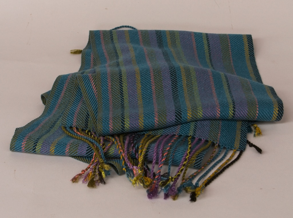 tencel striped scarf
