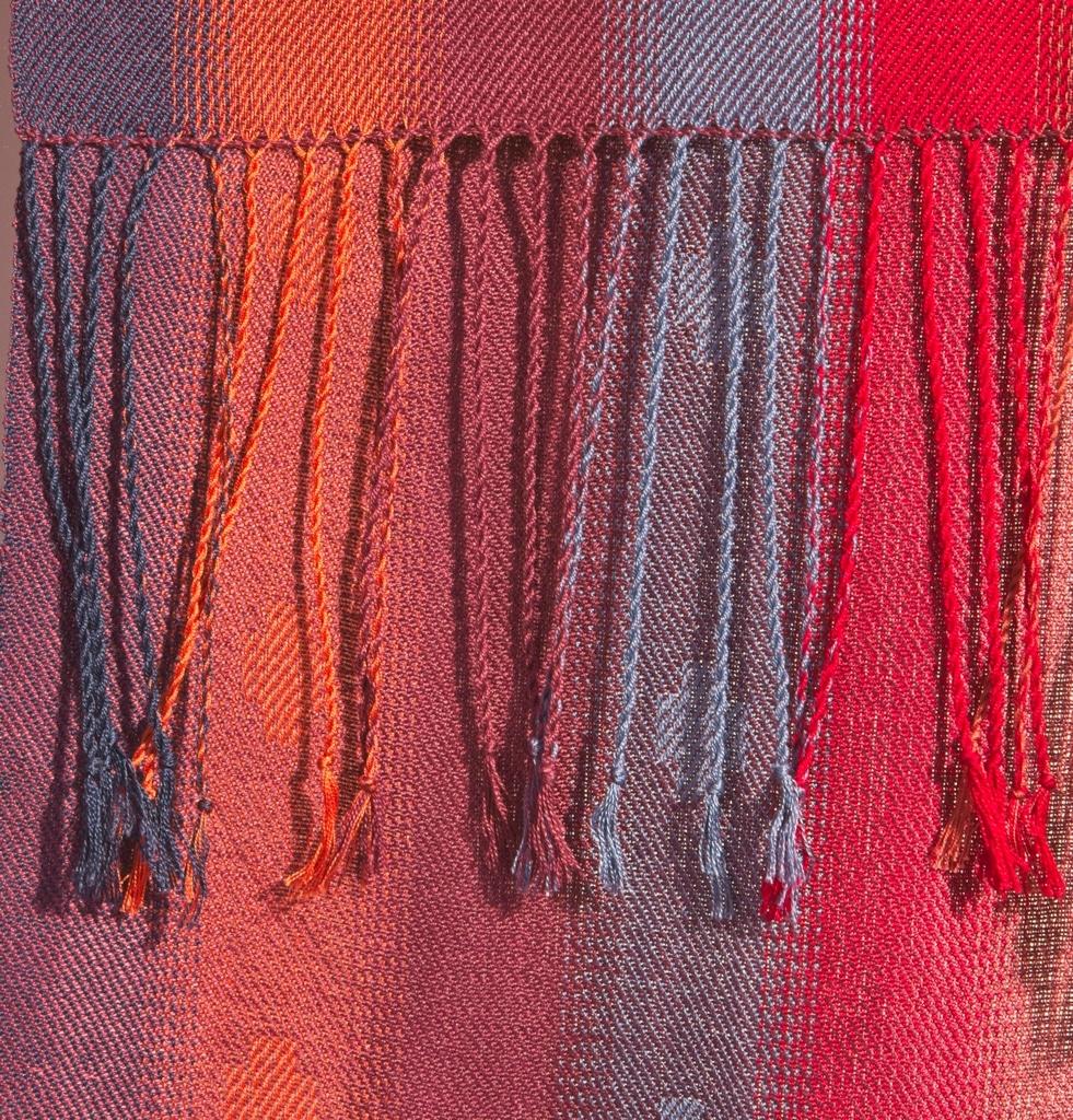 seasons silk scarf