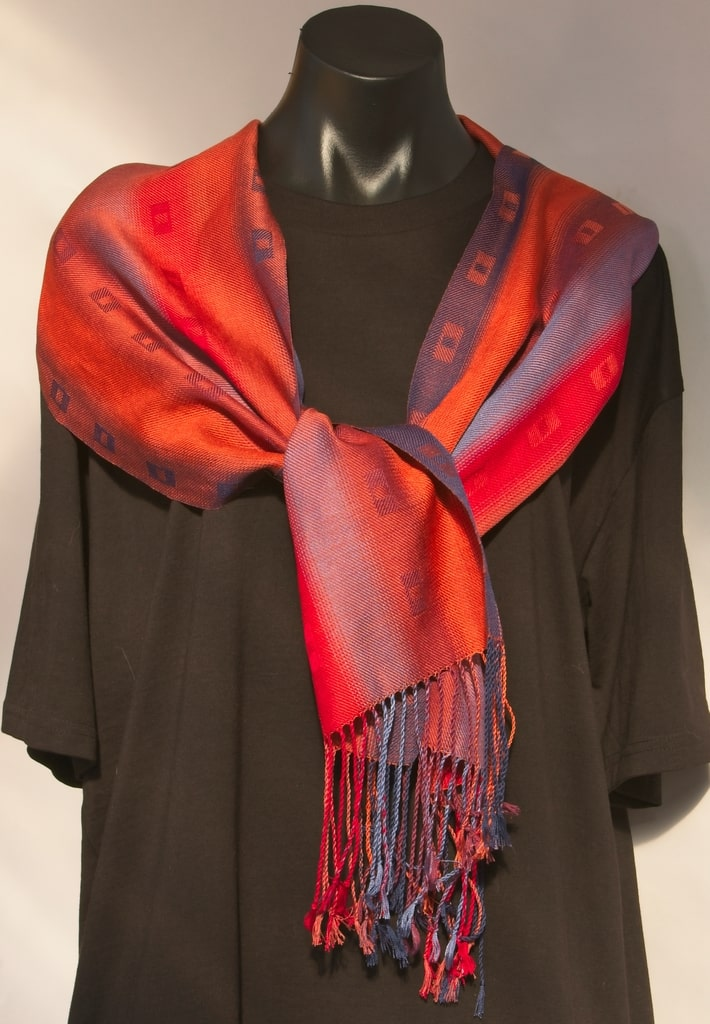seasons silk scarf