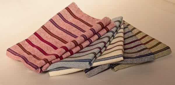 striped tea towels